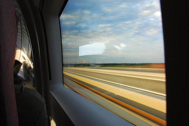 Tianjin to Beijing high speed rail